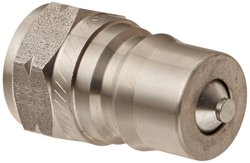 """EH 1/2""""-14 BSPP F Stainless Steel 303 ISO-B Interchange Hydraulic Fitting"""