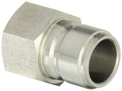 """EH 1""""-11-1/2 NPTF F Stainless Straight Through Ball Lock Hydraulic Fitting"""