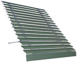 "Americana Building Products 32-3/4"" x 72"" Aluma Vue Awning - Hunter Green"