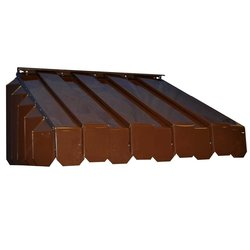 """ABP 17-1/2"""" x 43"""" x 65"""" Aluma Vent Louvered End Style Awning - Brown"""