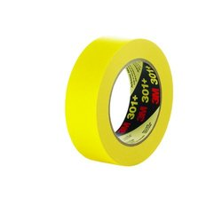 3M 301+ 24 mm x 55 m Performance Yellow Masking Tape - Pack of 36