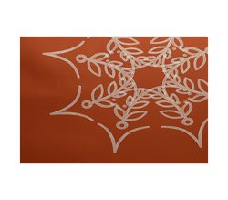 E By Design 5' x 7' Web Art Holiday Print Outdoor Rug - Orange