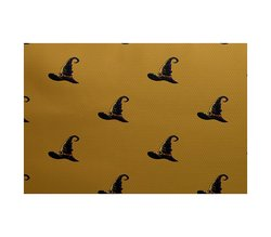 E By Design 5' x 7' Witches Brew Holiday Print Rug - Gold