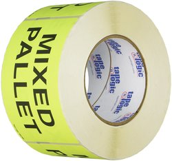 "Generic DL2481 3""x5"" Mixed Pallet Labels - Fluorescent Yellow"