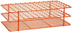Bel Art Steel Poxygrid Wire Test Tube Rack for 10 13mm Tube - Orange