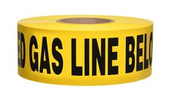 Presco B3104Y5-658 Underground Warning Tape (Pack of 8) - Yellow/Black