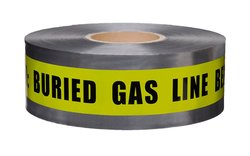 Presco D3105Y5-658 Underground Warning Tape (Pack of 8) - Yellow/Black
