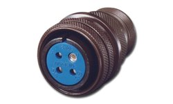 Amphenol Circular Connector Socket Threaded Coupling Solder Plug 3 Contact