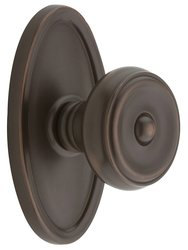 Emtek Oval Rosette Set with Waverly Knob - Double Dummy Oil Rubbed Bronze