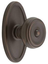 Emtek Oval Rosette Set with Waverly Knob - Oil Rubbed Bronze Privacy