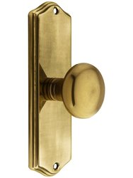 Emtek Colonial Revival Door Set with Knob - Privacy in French Antique
