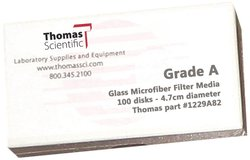 Thomas Borosilicate Glass Microfiber Filter Pack of 100 - 4.7cm Diameter