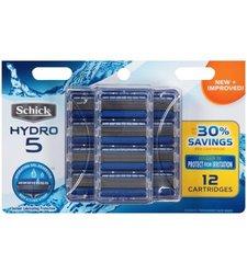 Schick Hydro 5 Razor Blade Refills for Men with Flip Trimmer- 12 Count