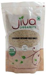 Jiva Organics White Sesame Seeds -- 7 oz