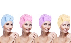 Medex Wrap Bath Towel Hair Wrap - 4 Pack (Assorted Colors)