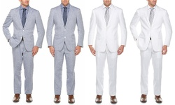 Linen Suits (2-piece): Light Blue/52rx46w