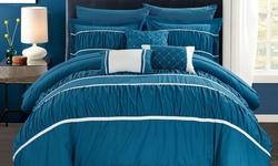 10-piece Penelope Bed In A Bag Comforter Set - Aqua - Size: King