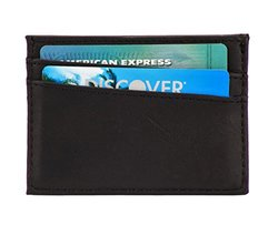 Men's Rfid-blocking Leather Accessory: Ultra Slim Card Holder/black