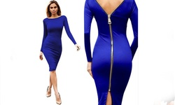 Victoria Dress, Blue - Medium