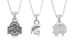 Ncaa Silver Necklace: Ohio State Buckeyes