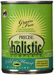 Precise Holistic Complete Wild at Heart River Line Salmon & Trout Formula Canned Dog Food,   12/13.2-oz cans