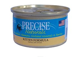 Precise Naturals Canned Food Kitten Formula - Case of 24 Cans - 3Oz