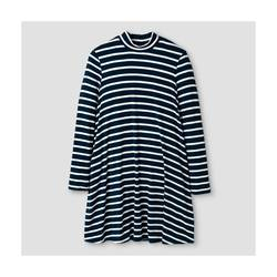 Xhilaration Girl's Knit Dress - Blue Stripe - Size: Large