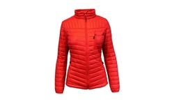 Spire by Galaxy Women's Packable Puffer Jacket with Zipper - Red - Size: L