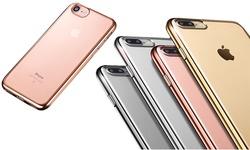 Waloo Electroplate Slim Flexy Case: Iphone 7 Plus/gold