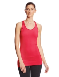 2XU Women's Engineered Knit Tank Top, Coral Rose, Medium/Large