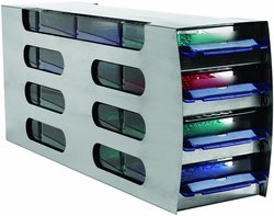 Arctic Squares Stainless Steel Horizontal Freezer Rack with Four Drawers