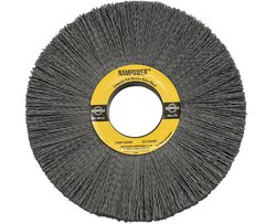 "BR CW61180SC 1.5"" Bristle Length Nampower Hub Abrasive Nylon Wheel Brush"