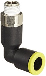 """PL 5/16"""" or 8 mm Tube OD x 1/8"""" BSPT Male Brass Push-to-Connect Fitting"""