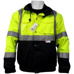 Global GLO-B1 Class 3 Five in One Winter Work Wear Jacket- Lime/Black- M