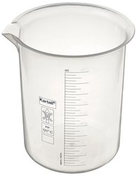 Globe Scientific 601827-1 2000mL Polypropylene Griffin Low Form Beaker