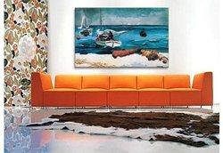 """iCanvasART Winslow Homer 40""""x26"""" Nassau Canvas Art Print"""