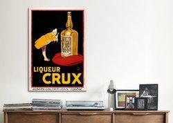 """Vintage Posters 40""""x26"""" Liqueur Crux Vintage Advertising Canvas Art Print"""