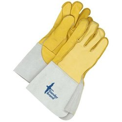 Bob Dale Unisex Leather Utility Glove with Outside Seam - Tan - Size: 12