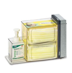 """ML8689 12.25"""" W x 4.75"""" D x 8"""" H Sanitizing Station w/ 3 Compartment"""