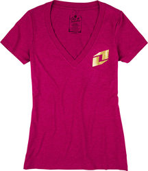 One Industries Women's Icon Gold Tee - Pink - Size: M