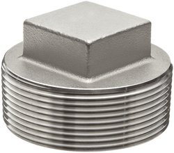Merit Brass Stainless Steel 304 Cast Pipe Fitting Square Head Cored Plug