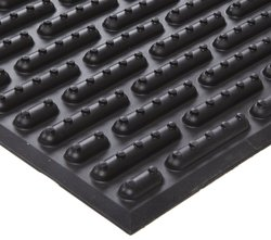 Ergomat Nitrile Rubber Anti Fatigue Mat - Black - 3' W x 4' L