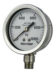"""REOTEMP Heavy Duty Repairable Pressure Gauge - 1/4"""" Male NPT Connection"""