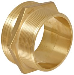 Moon Brass Fire Hose Adapter - Size: 4 x 4