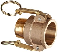 PT Coupling Brass Cam & Groove Hose Fitting - Size: 1-1/4""