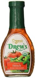 Drew's All Natural Organic Salad Dressing - Harvest French - 8 Ounce