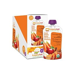 Happy Tots Organic Superfoods Sweet Potato Carrot Apple & Cinnamon