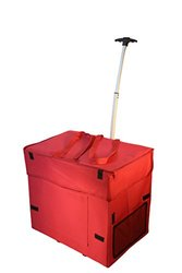 Wide Load Collapsible Smart Cart: Red