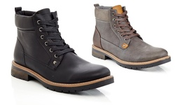 Marco Vitale Men's Lace Up Casual Boots: Black - 13
