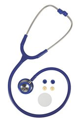 Medline Accucare Elite Stethoscope - Blue - Stainless steel